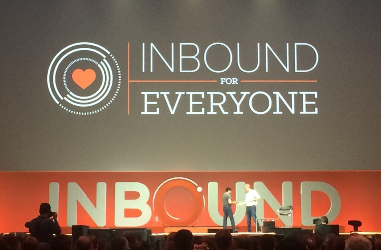 Dharmesh Shah and Brian Halligan share the stage at HubSpot INBOUND
